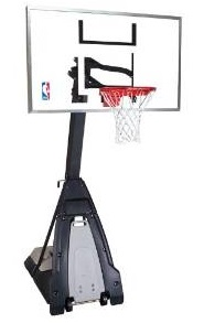 Spalding The Beast Portable Basketball Hoop - 60 Glass Backboard
