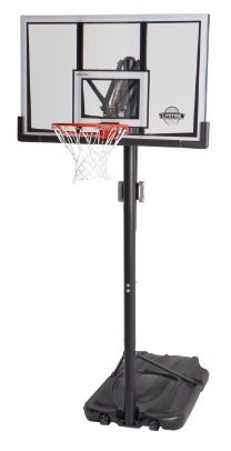 Lifetime 52-Inch Shatter-Proof Backboard with Portable Basketball System